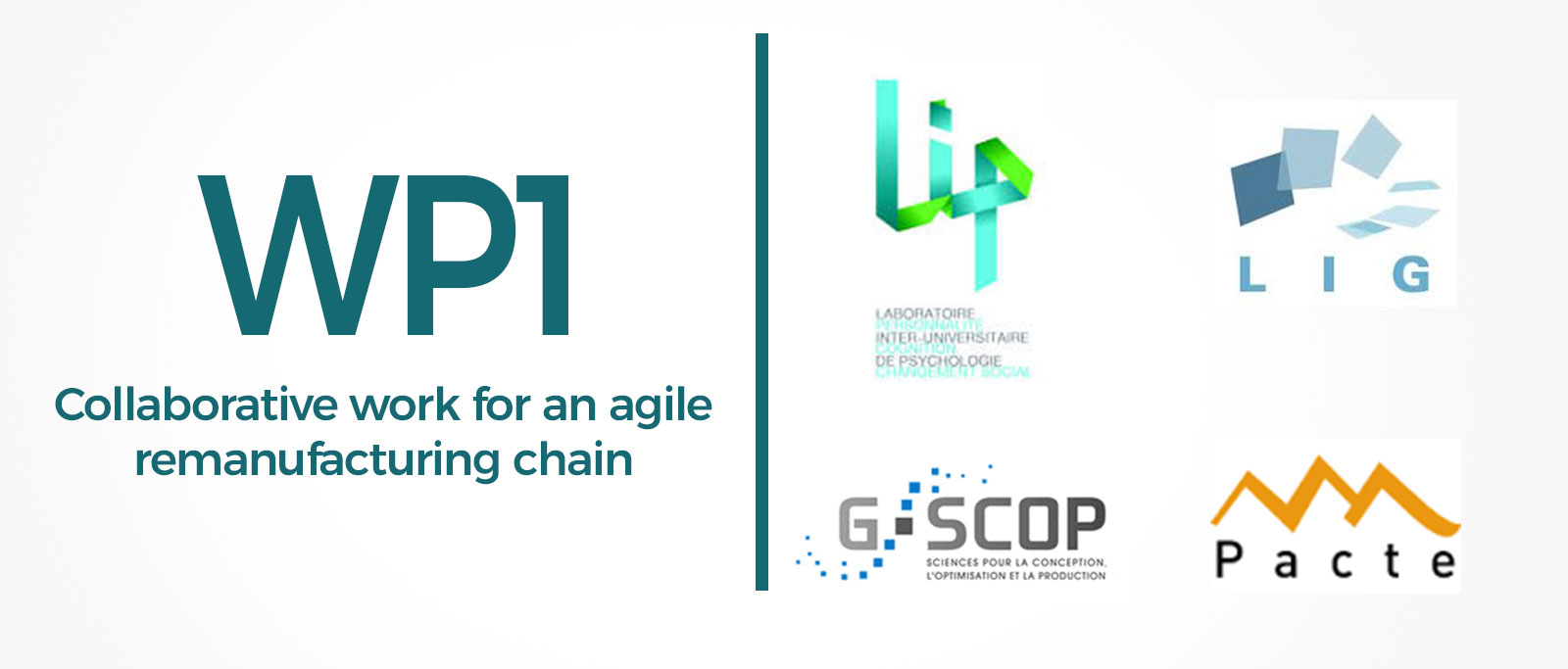 WP1: Collaborative work for an agile remanufacturing chain